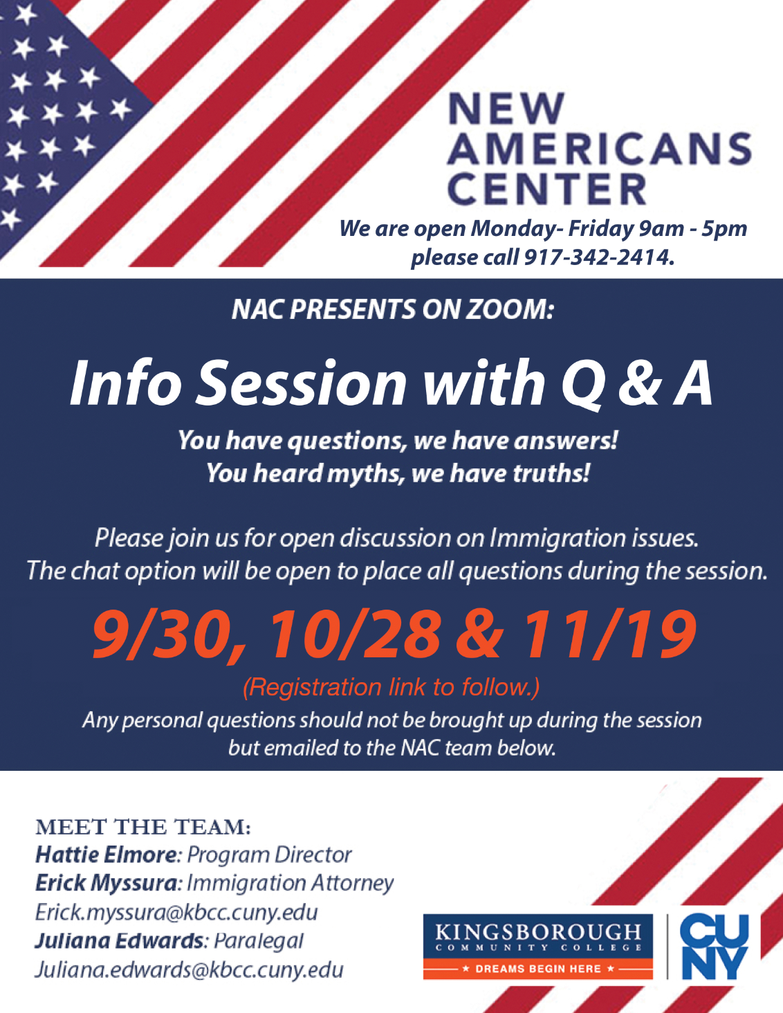 New Americans Center Info Session