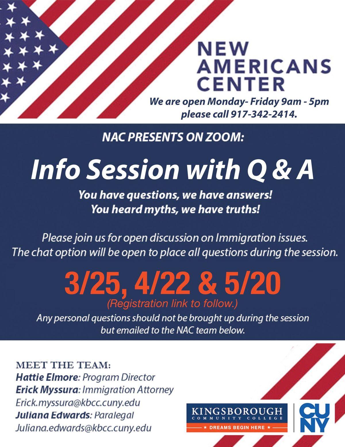NAC - Meet the team/ Q & A Session