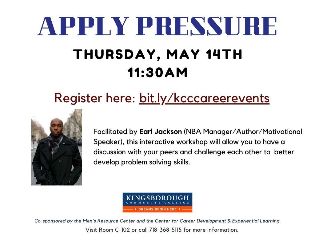 Apply Pressure Workshop